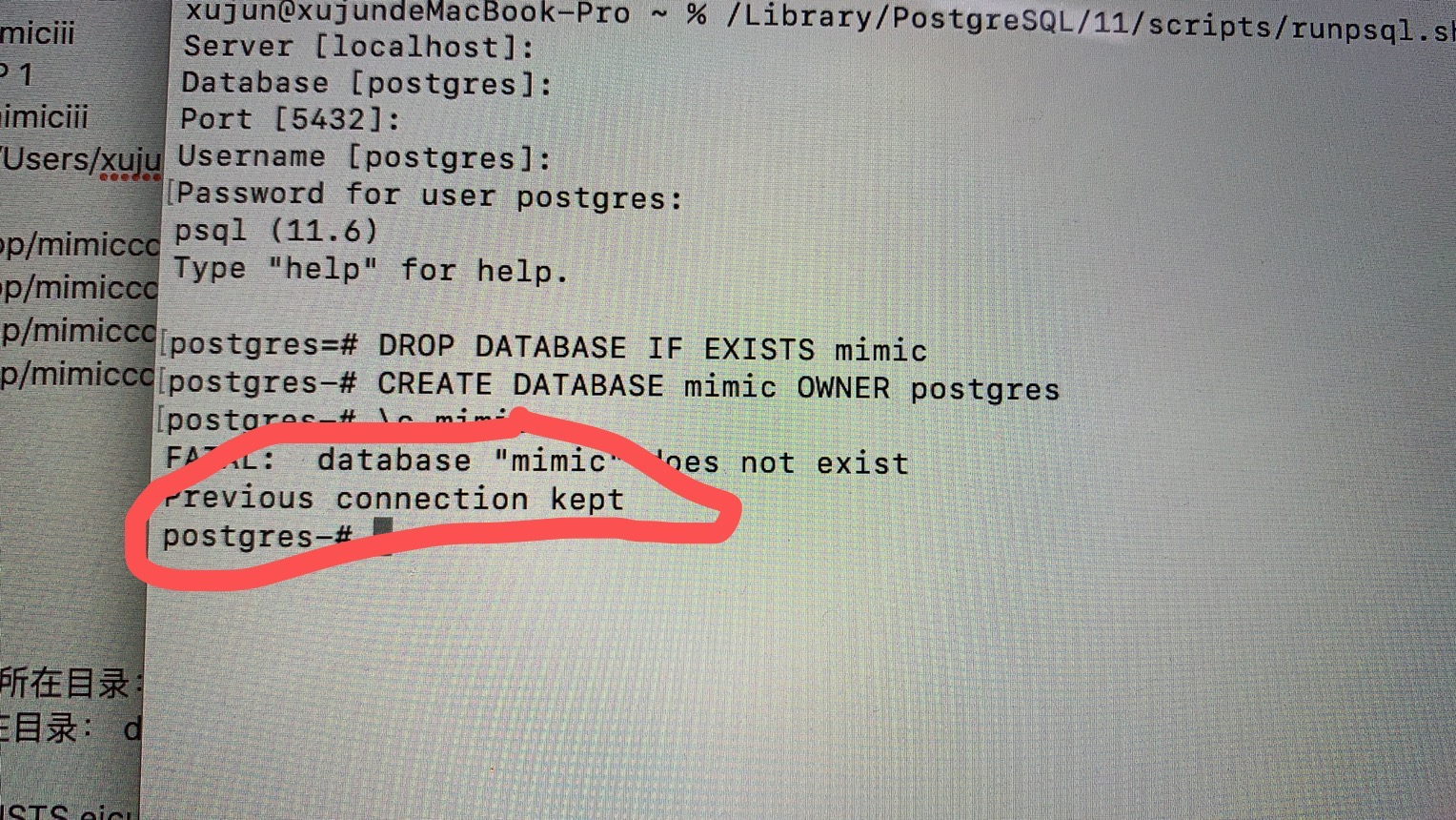 奔溃的MIMIC III数据库安装经历