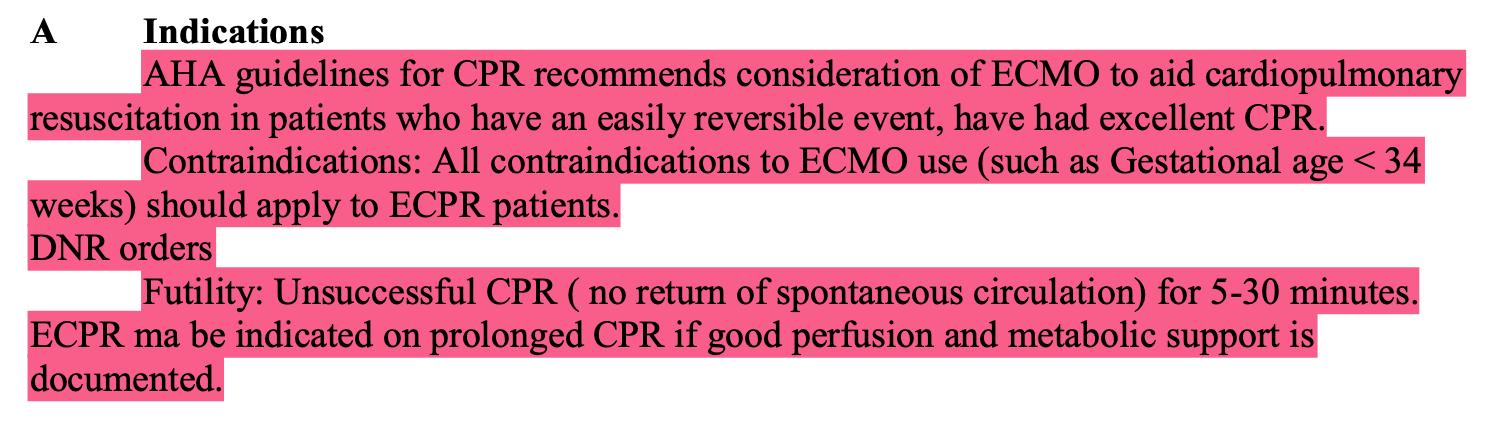 ECMO适应症和禁忌症_ECLS的guidelines